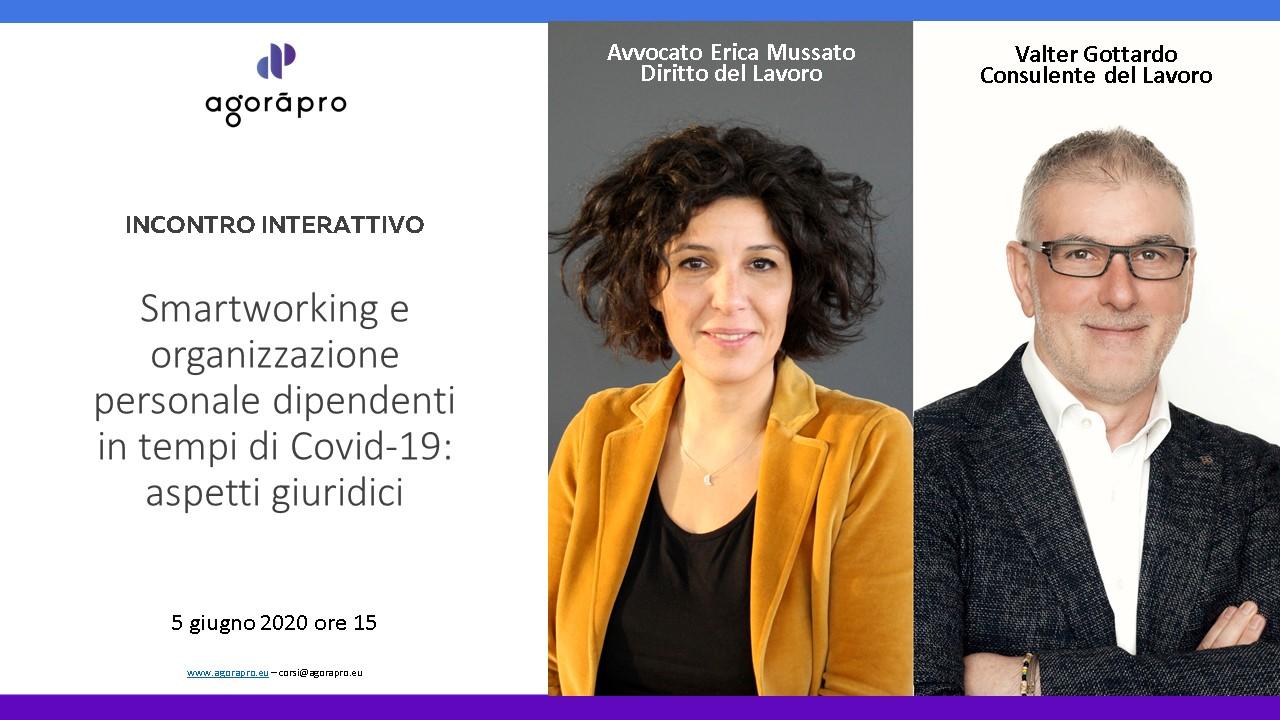 Smartworking e organizzazione personale dipendenti in tempi di Covid-19: aspetti giuridici