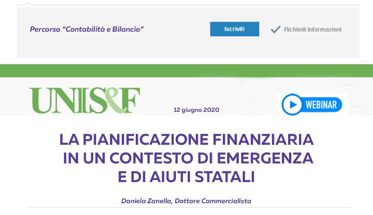 La pianificazione finanziaria in un contesto di emergenza e di aiuti statali