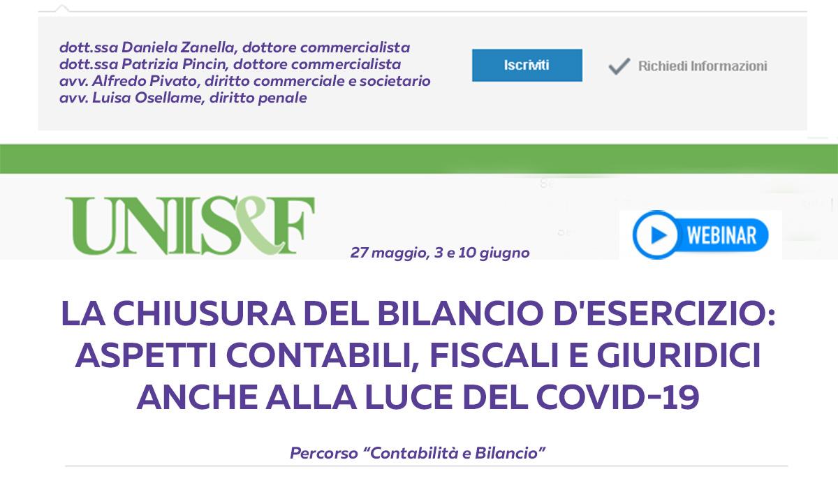 LA CHIUSURA DEL BILANCIO D'ESERCIZIO: aspetti contabili, fiscali e giuridici anche alla luce del Covid-19