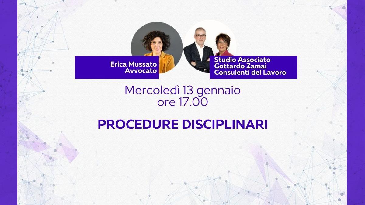 Il rapporto di lavoro 2/4 - Procedure disciplinari