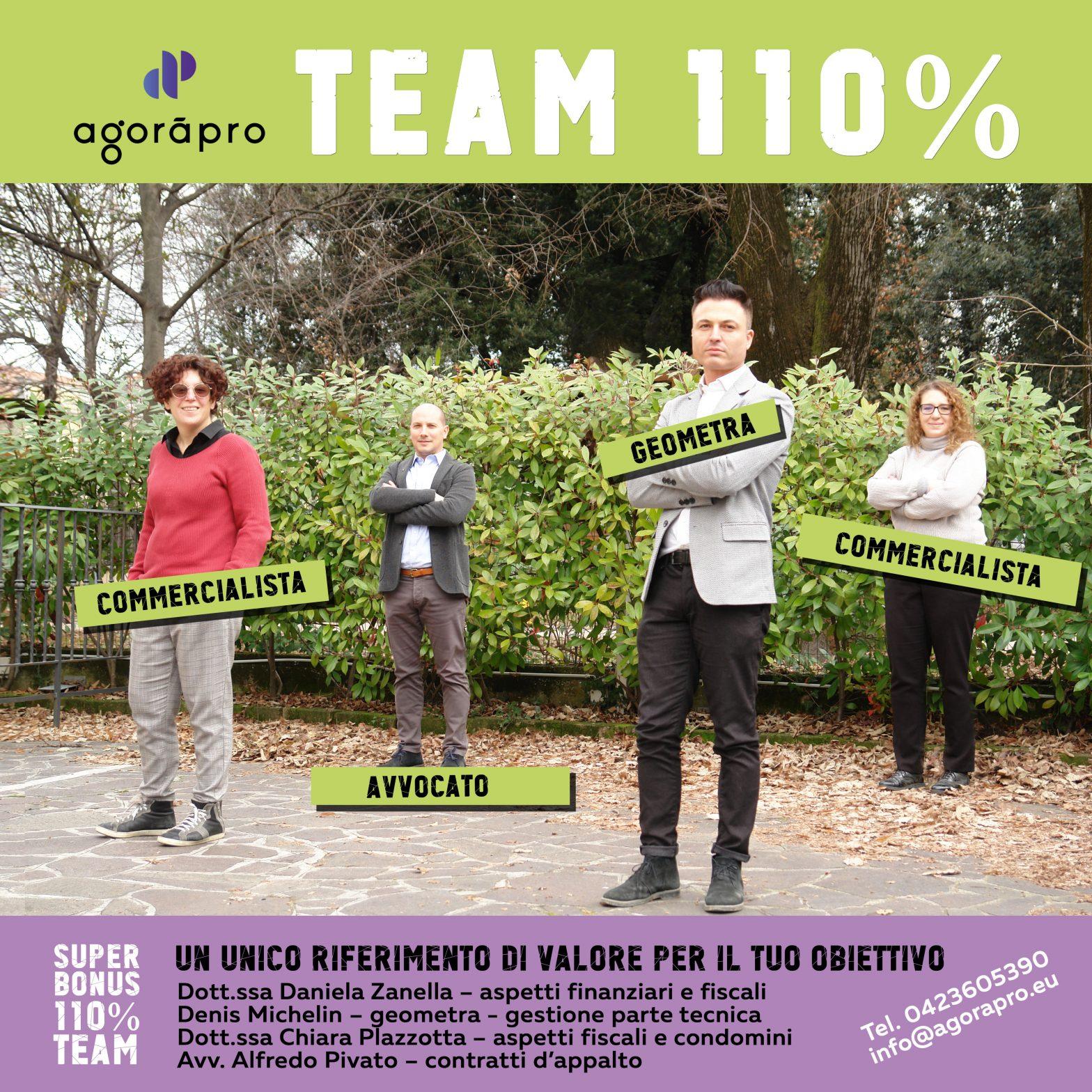 Il Team110% Agoràpro cresce